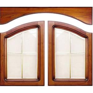 Комплект арочных фасадов с витражами