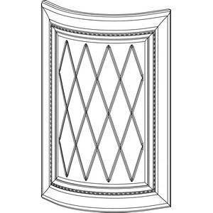 Радиусный фасад с витражом