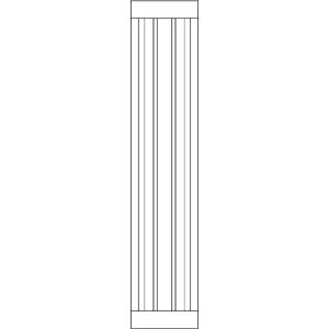 Фасад с филенкой узкий