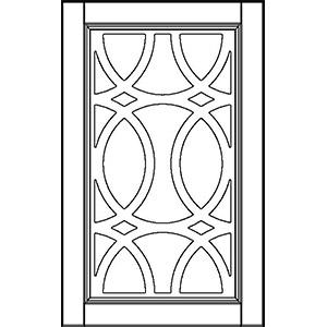 Фасад глухой с декоративной решеткой