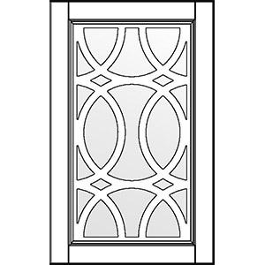 Фасад с витражом и решеткой