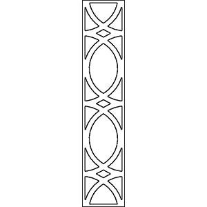Решетка для фасадов шириной 300 мм