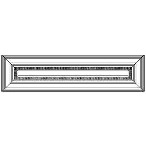 Фасад ящика с плоской филенкой