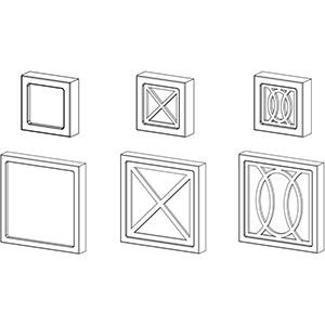 Капители к декоративным колонкам