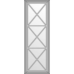 Фасад с витражом и решеткой типа Х