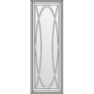 Фасад с витражом и решеткой типа О