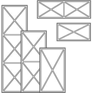 Решетки типа Х для разных размеров фасадов