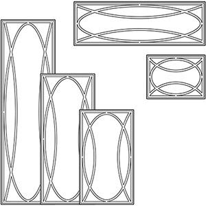 Решетки типа О для разных размеров фасадов
