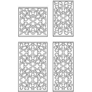 Декоративные решетки для разных размеров фасадов