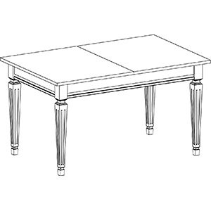 Стол Милан Фондо в сложенном виде